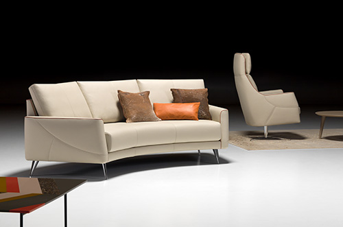 Artanova Switzerland Thalia sofa and Eros chair design furniture